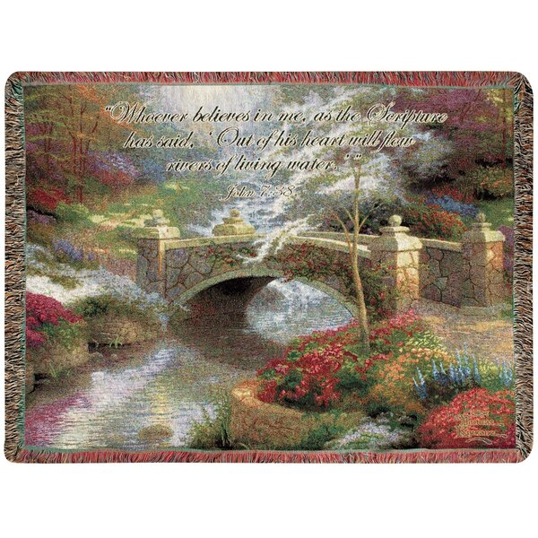 Bridge of Hope Tapestry Cotton Throw by Manual Woodworkers & Weavers