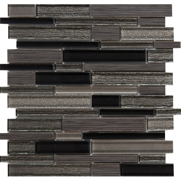 Metro Gris Blend Interlocking 12 x 12 Mixed Material Mosaic Tile in Gray by MSI