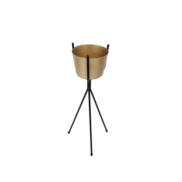 Orion Contemporary Metal Pot Planter by Gracie Oaks