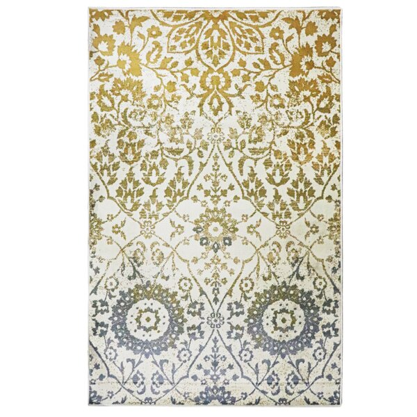 Kagan Off White Area Rug by Charlton Home