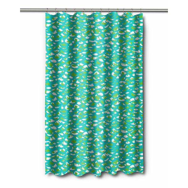 Coastal Fish Scales Shower Curtain by Island Girl Home