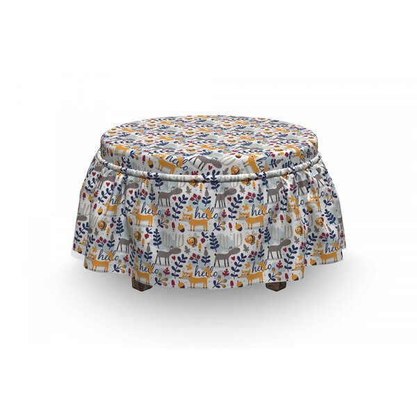 Animals And Botany Ottoman Slipcover (Set Of 2) By East Urban Home