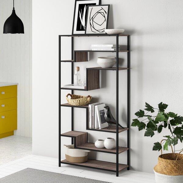 Blonde Geometric Bookcase By Zipcode Design