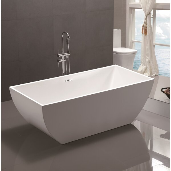 67 x 31.5 Acrylic Freestanding Soaking Bathtub by Vanity Art