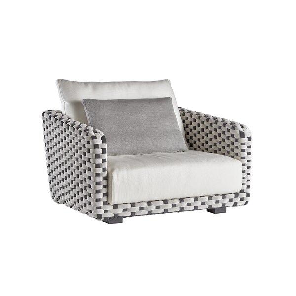 Feldmann 3 Seater Patio Sofa with Sunbrella Cushions
