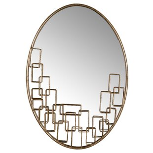 Everly Quinn Highgate Oval Accent Wall Mirror