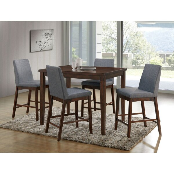 Reich Counter Height 5 Piece Pub Table Set by Ebern Designs