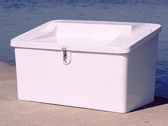 29 H x 50 W x 29 D Plastic Storage Bench