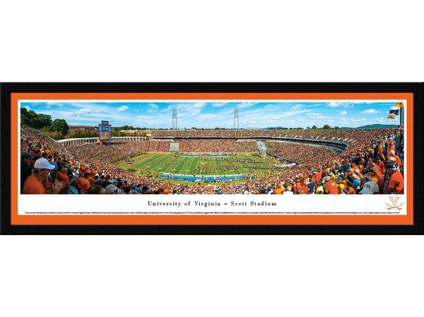 NCAA Virginia, University of - 50 Yard Line by Nathan Haler Framed Photographic Print by Blakeway Worldwide Panoramas, Inc