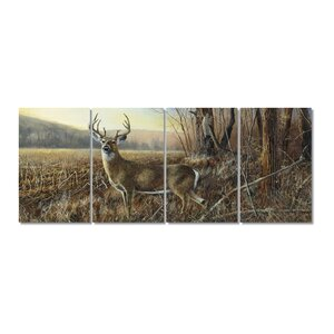 Deer Stretched Digital Photographic Print Multi-Piece Image on Wrapped Canvas by Loon Peak