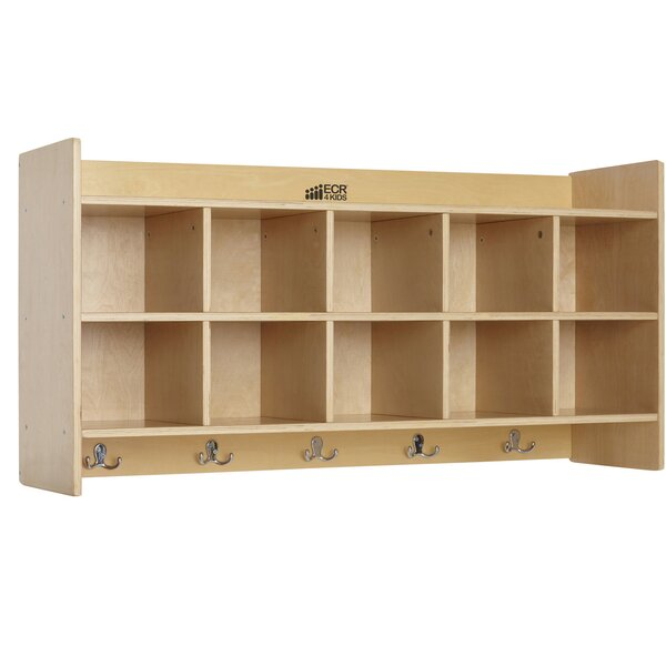 Birch Hanging Coat 10 Compartment Cubby by ECR4kids