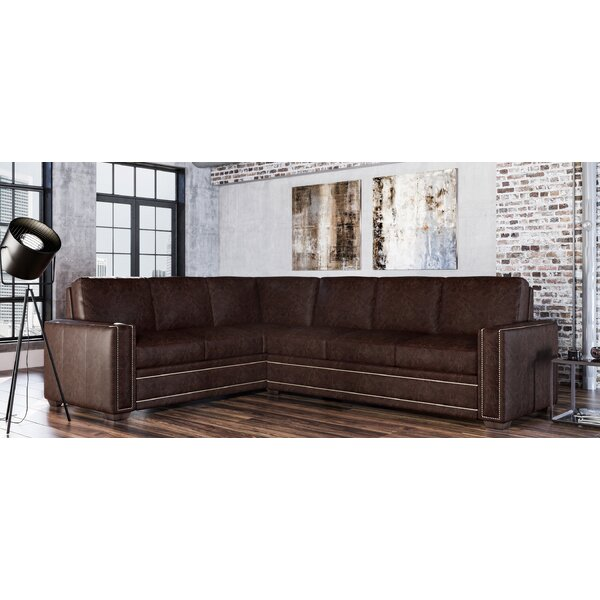 Dallas Leather Sectional By Westland And Birch