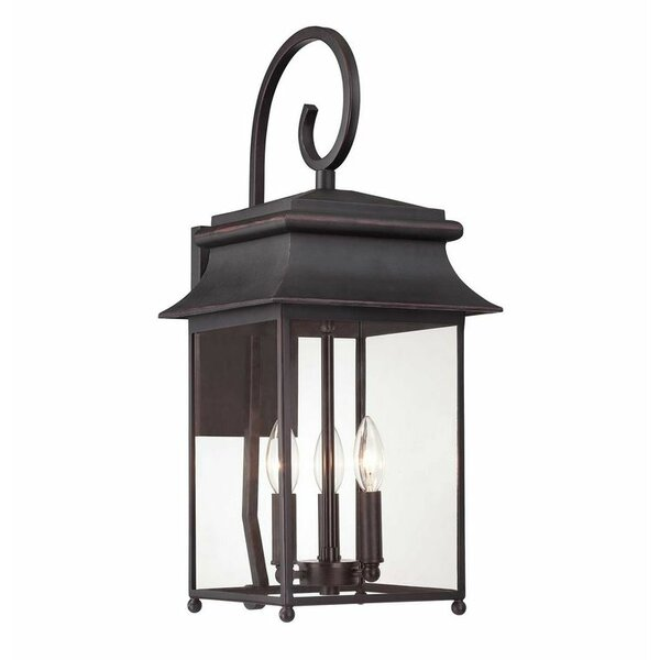 Hartzell Scroll 3-Light Lantern Head by Alcott Hill
