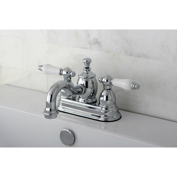 English Country Centerset Bathroom Faucet With Drain Assembly By Kingston Brass