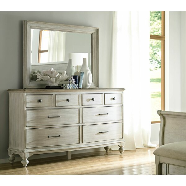 Ryleigh 8 Drawer Double Dresser with Mirror by One Allium Way