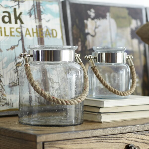 Seeded Glass Lantern by Birch Lane™
