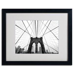 Abrahamic NYC Brooklyn Bridge Framed Photographic Print by Red Barrel Studio