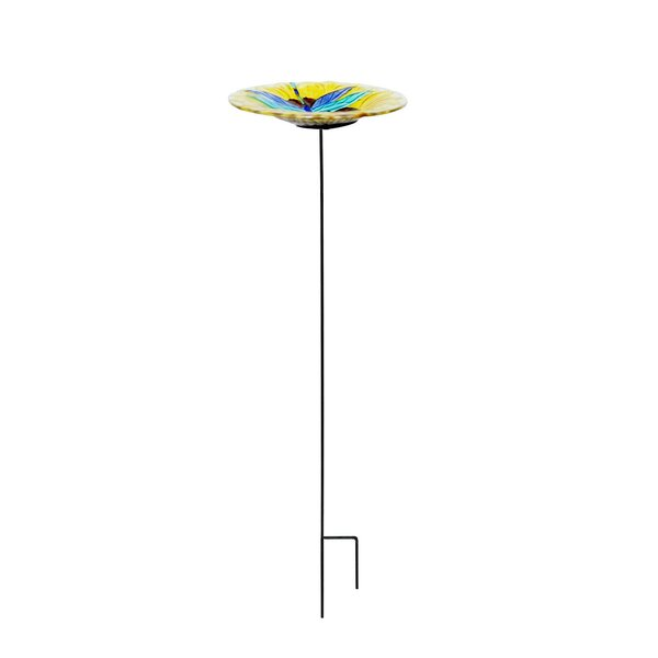Dragonfly Garden Birdbath by Continental Art Center