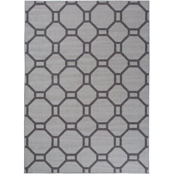Walmsley Geometric Gray Area Rug by Wrought Studio