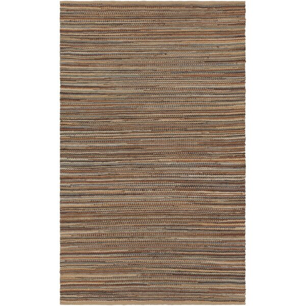 Pitcher Hand-Woven Brown/Orange Area Rug by Gracie Oaks