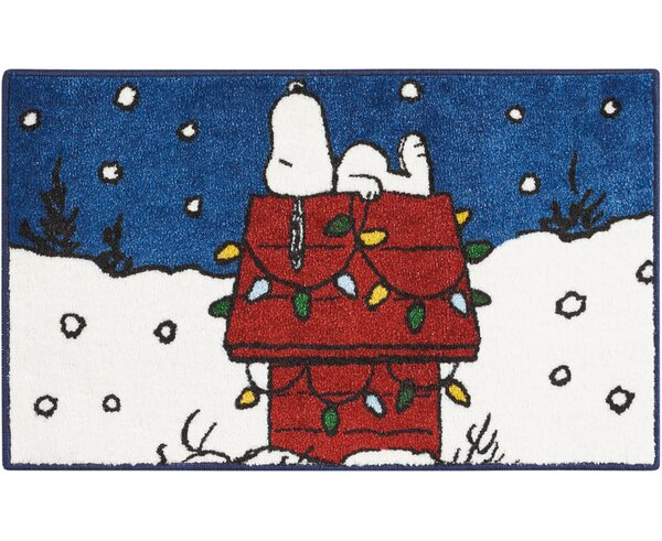 Peanuts Buddies Navy/White Area Rug by Nourison