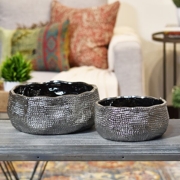 2-Piece Ceramic Pot Planter Set by Urban Trends