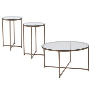 Gaener 3 Piece Coffee Table Set Mercer41