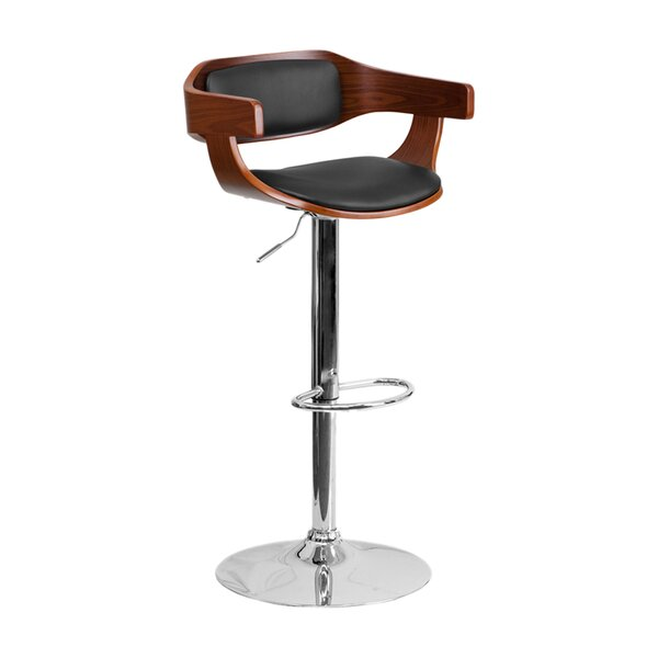 Gustavo Adjustable Height Swivel Bar Stool by Orren Ellis