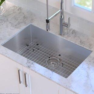 Stainless Steel Kitchen Sinks You\'ll Love | Wayfair
