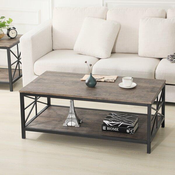 Van Winkle Coffee Table With Storage By Ebern Designs