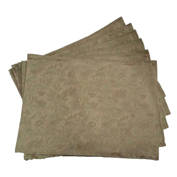Jacquard Placemat (Set of 6) by Textiles Plus Inc.