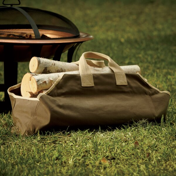 Canvas Log Carrier, Sage by Birch Lane™