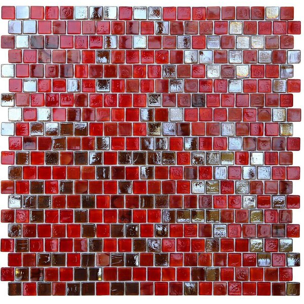 Opal 0.63 x 0.63 Glass Mosaic Tile in Lolita by Kellani