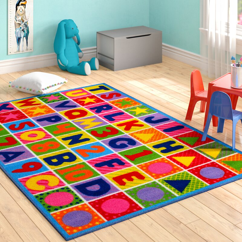 Zoomie Kids Boswell Numbers And Letters Kids Area Rug