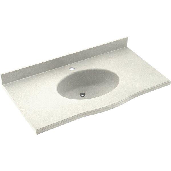 Europa Solid Surface 61 Single Bathroom Vanity Top by Swan
