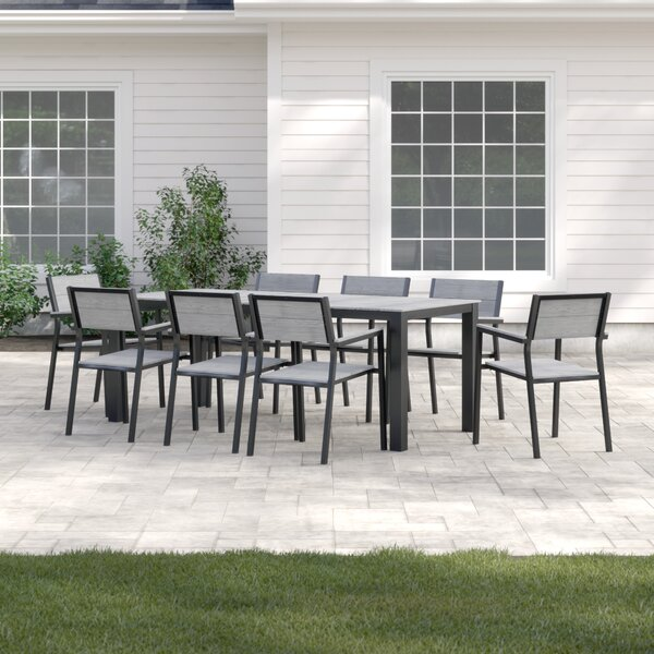 New Design Windsor 9 Piece Outdoor Patio Dining Set By Sol 72 Outdoor Purchase
