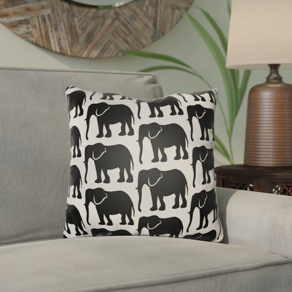 Kalgoorlie Elephant Indoor/Outdoor Throw Pillow Cover By Bloomsbury Market