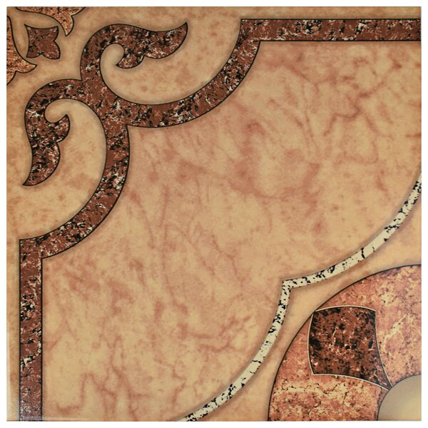 Nile 17.63 x 17.63 Ceramic Field Tile in Beige/Brown by EliteTile