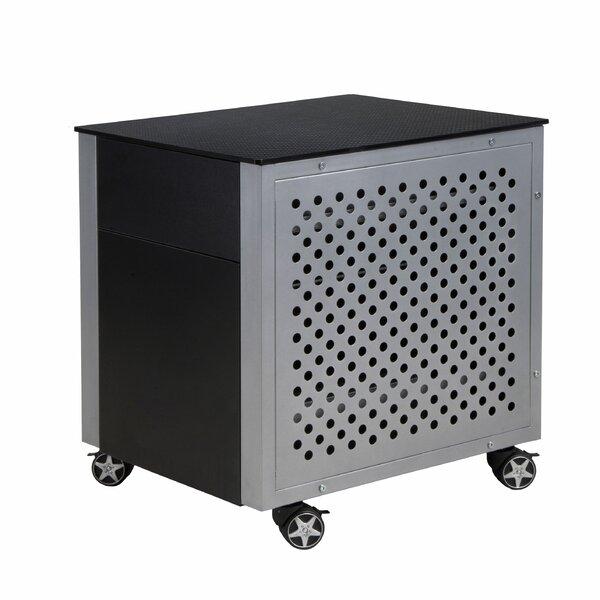 Kuiper Carbon Fiber 2-Drawer Vertical Filing Cabinet by Latitude Run