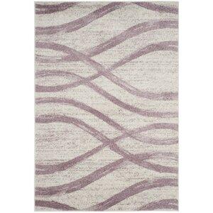 Marlee Cream/Purple Area Rug