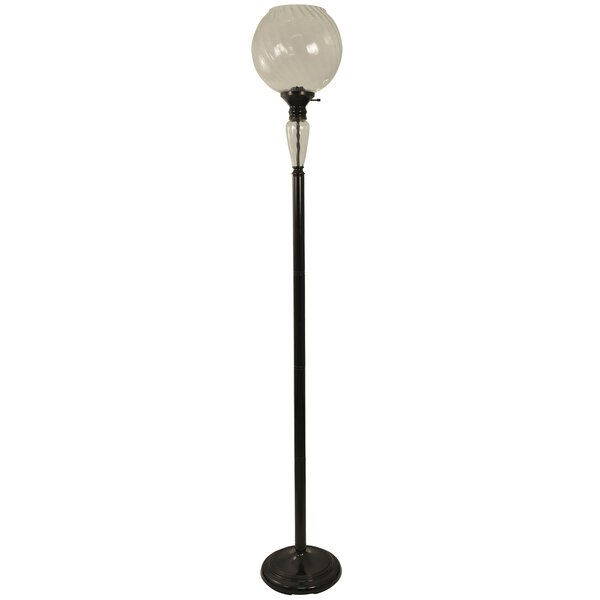 Trickett Steel and Glass 72 Floor Lamp by Astoria Grand