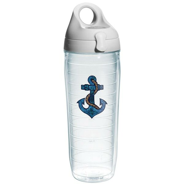 On The Water Sequins Anchor Water Bottle Plastic by Tervis Tumbler