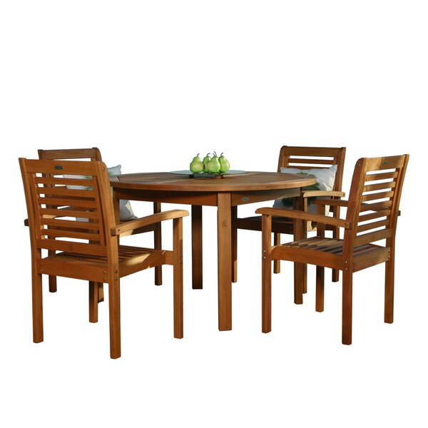 Mcree International Home Outdoor 9 Piece Dining Set by Highland Dunes
