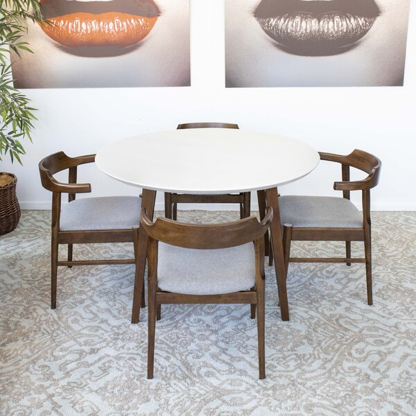 Glynn 5 - Piece Solid Wood Dining Set by George Oliver George Oliver