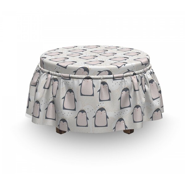 Doodle Antarctica Birds Ottoman Slipcover (Set Of 2) By East Urban Home