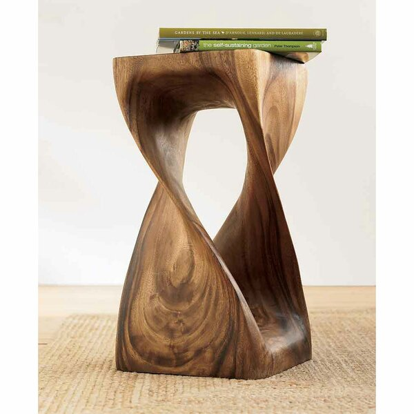Alvarez Handcarved Twisty Accent Stool by Foundry Select