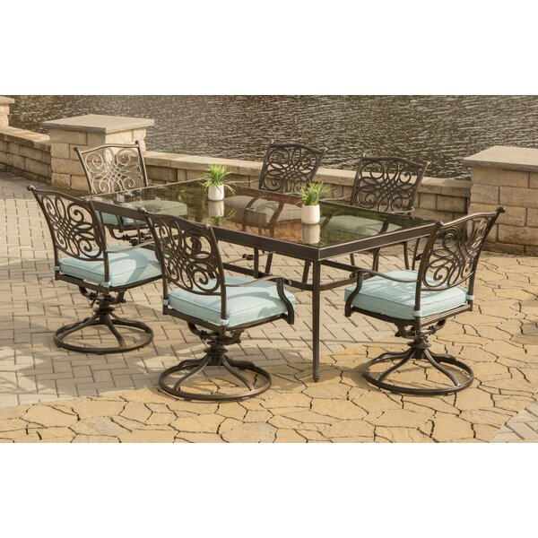 Barrowman 7 Piece Dining Set with Cushions by Darby Home Co