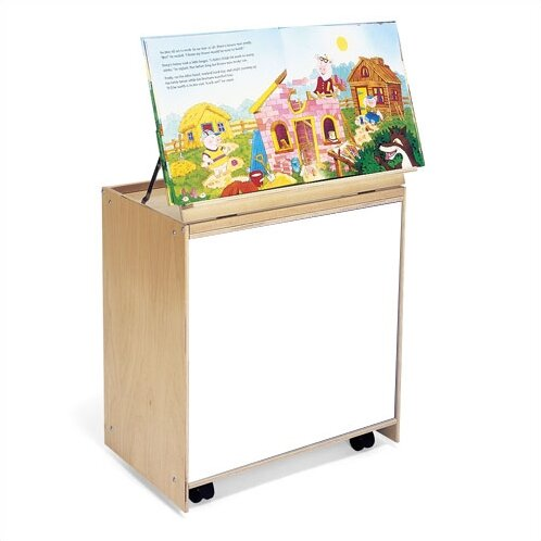 6 Compartment Book Display with Casters by Whitney Brothers