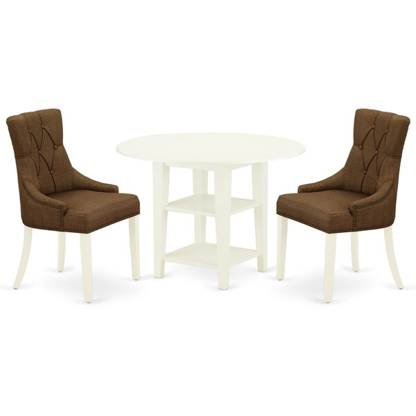 Friary 3 Piece Drop Leaf Solid Wood Dining Set by Winston Porter Winston Porter