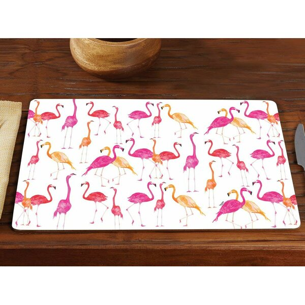 Street Flamingo Hardboard 15.75 Placemat (Set of 2) by Bay Isle Home